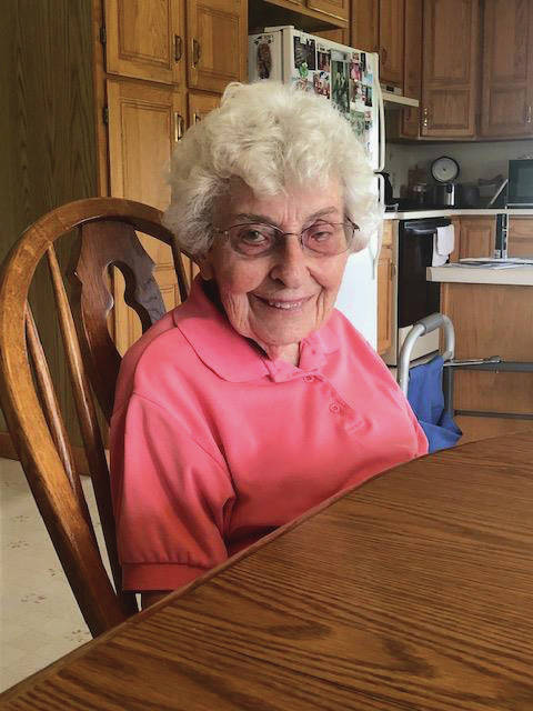 Elizabeth Township resident Doris Beeson shared a lifetime of stories at her daughter Patty Taynor's home last week. Beeson, who turns 100 on June 5, will celebrate her birthday with family and friends at the Miami County Fairgrounds on Monday.