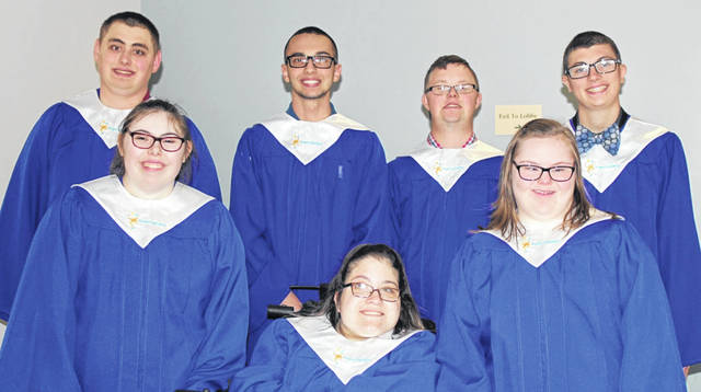 Provided photo 2019 Upper Valley Project SEARCH graduates front row, from left: Heather Hopkins, Justine Porath and Katie Young. Back row, from left: Austin Ham, Jacob Balta, Isaac Bensman, Christopher Eller.