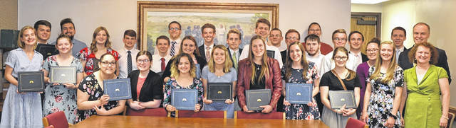 Provided photo The Dayton Ohio East Stake of The Church of Jesus Christ of Latter-day Saints held graduation exercises for 32 seniors last week, including a couple local graduates.