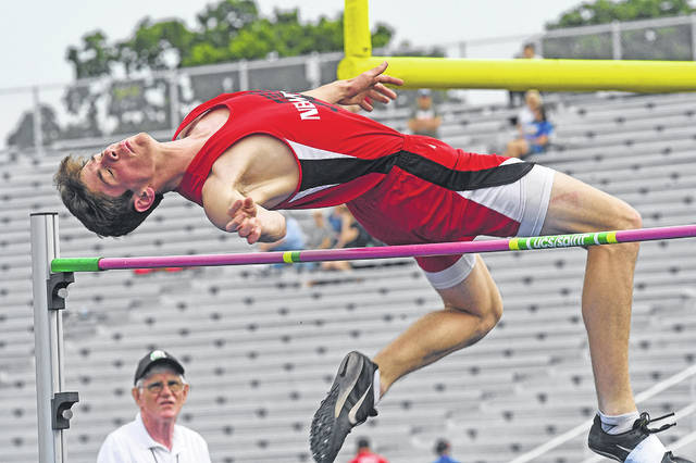Ben Robinson|GoBuccs.com Newton's Cameron Stine won three events at the Division III regional meet Friday at Troy Memorial Stadium.