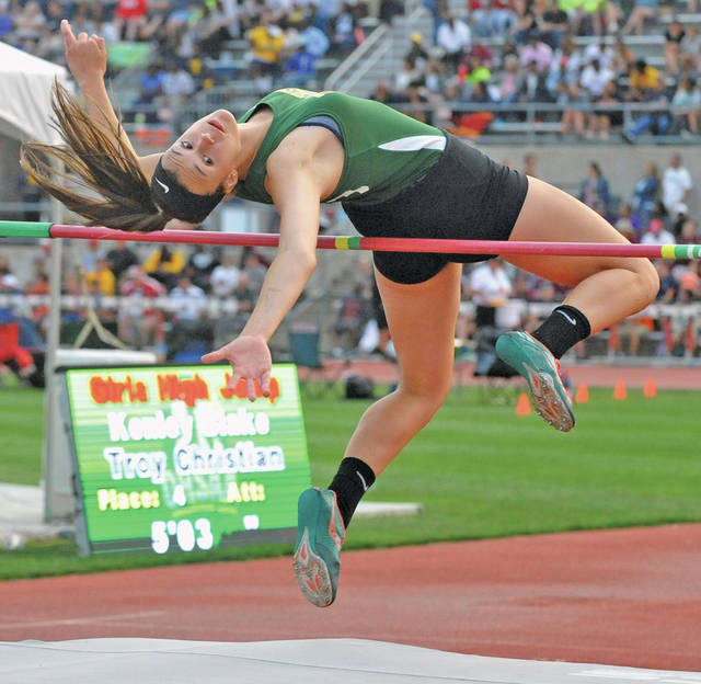 Josh Brown|Miami Valley Today file Troy Christian's Kenley Blake was named the MBC Athlete of the Year in girls track this spring.