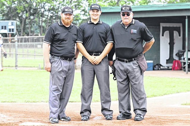 Three generations of officials (L-R) Ian Merz (son), Brayden Peake (grandson) and Jim Merz (grandfather).