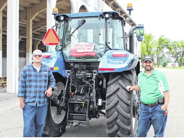 Provided photo A New Holland T5.110 was delivered to the Miami County Fairgrounds this month. For the next six months, this 114 horse-power tractor will be used for numerous tasks around the grounds.