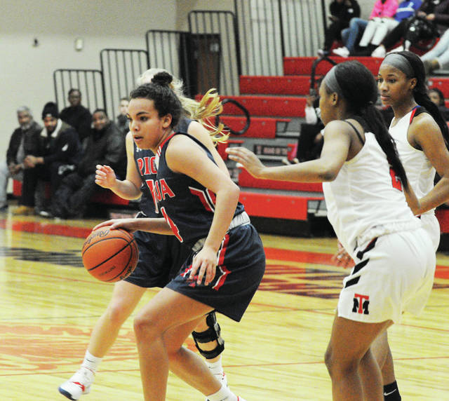 Rob Kiser|MVT File Photo Tylah Yeomans will be back for her senior season for the Piqua girls basketball team.