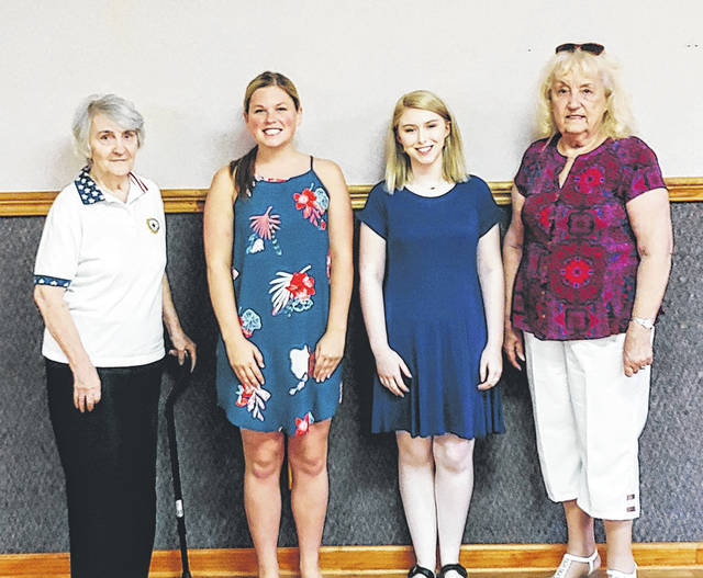Provided photo From left to right, Betty Kessler, chairman of the education program, Kayla Mullen, Emily Burleson, Viola Williams, past president's Parlay. Not pictured Alexis Otstot and Charlie Weir.