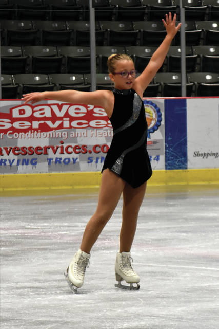 Cody Willoughby|Miami Valley Today file Zoey Dean of Troy competes in last year's Kathy Slack Summer Competition at Hobart Arena in Troy. The Troy Skating Club will host the 44th annual Kathy Slack Summer Competition July 11-14 at Hobart Arena in Troy.