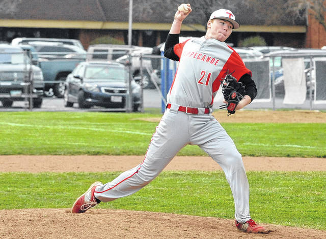 Josh Brown|Miami Valley Today file Tippecanoe's Ian Yunker delivers a pitch for the Red Devils.