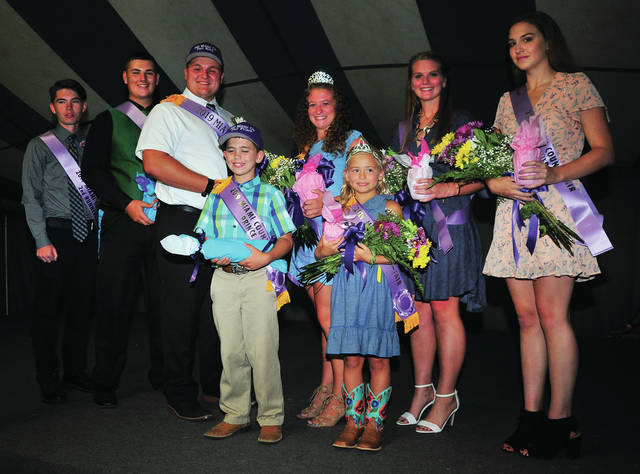 Miami County Fair royalty for 2019 includes King 2nd runner up Carter Gilbert, 1st runner up, Brayden Peake, Fair King Luke Vannus, Fair Queen Katie Robinson, 1st runner up Whitley Gross, and 2nd runner up, Alicia Miller. Fair prince is Jacob Shoemaker and Princess is Katie Quinn.