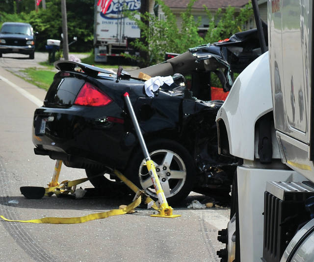 A crash involving a car and a semi resulted in one fatality on Friday morning on U.S. Route 36 in Lena.