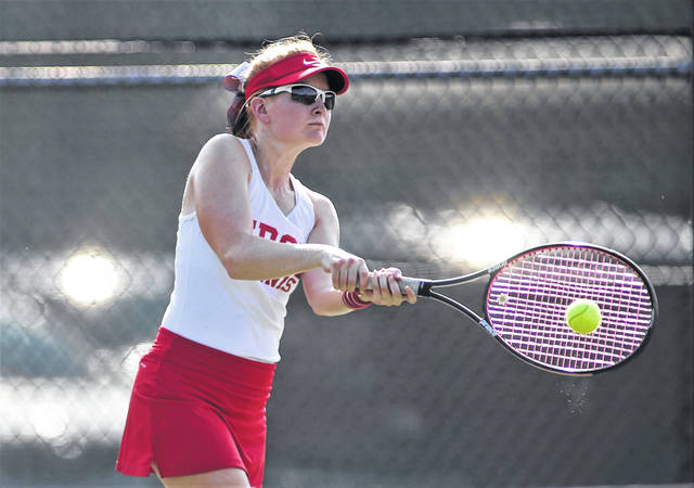 Lee Woolery|Miami Valley Today file Troy's Kit Wolke will take over first singles for the Trojans this season.