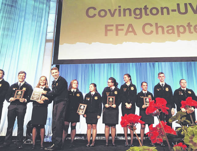 The Covington-UVCC FFA was recently recognized in the 2019 National Chapter Award Program. This program recognizes outstanding FFA chapters throughout the U.S.