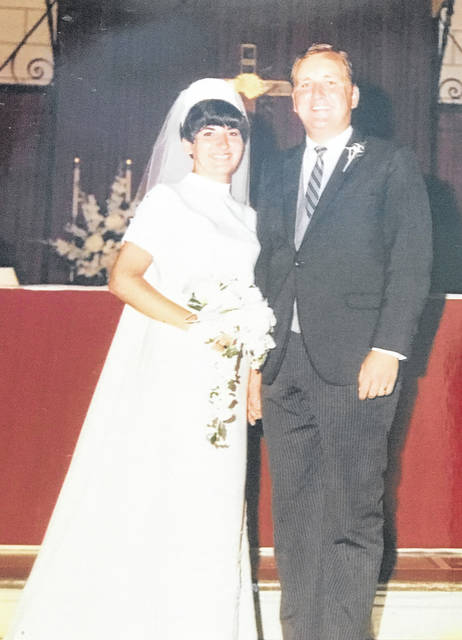 Provided photo Larry and Donna (Albert) Wilberding married on Aug. 9, 1969 at Christ the King Catholic Church in Indianapolis.