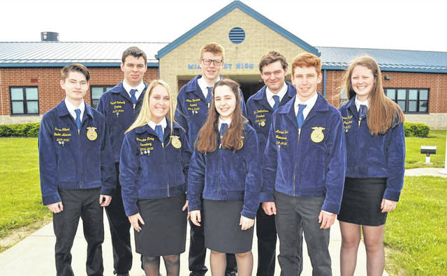 Provided photo The Miami East-MVCTC FFA Chapter is guided by strong leadership provided by the 2019-20 officer team.