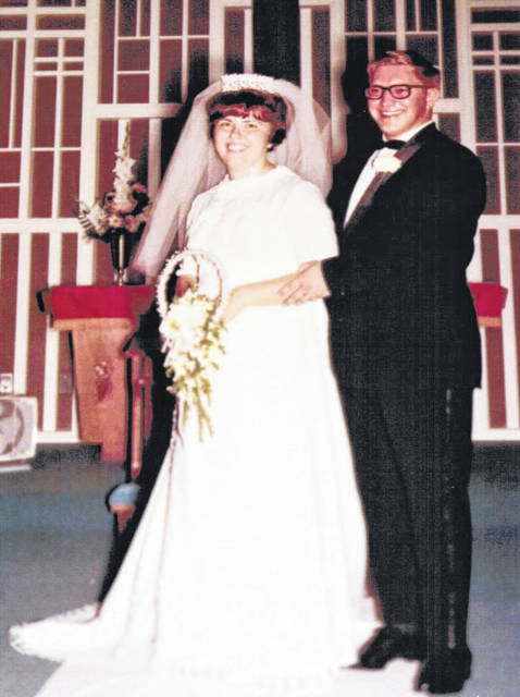 Provided photo Thomas and Sally Howe of Troy were married on Aug. 16, 1969 at Evangelical United Methodist Church in Greeville.