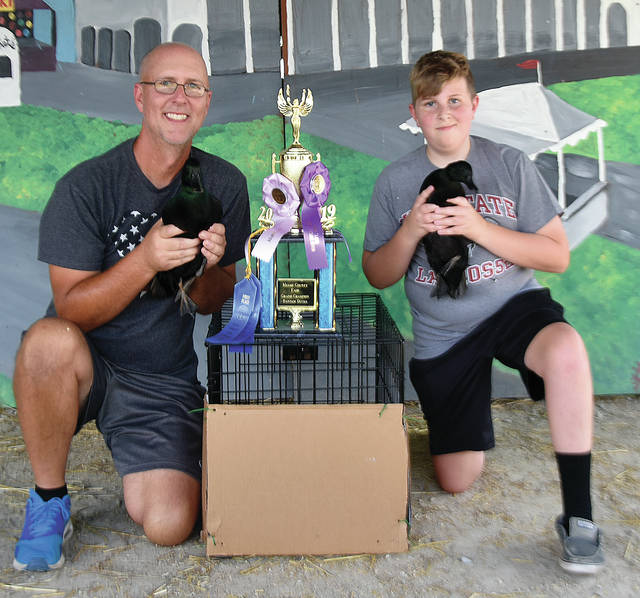 Matthew Fox, 15, son of Greg and Pam Fox, from Butler Township, of the Milton-Union Footprints 4-H Club, won first place Bantam Ducks Pair, first place Bantam Ducks Drake, first place Bantam Ducks Hen, Grand Champion Bantam Ducks, and Reserve Grand Champion Overal Fancy Poultry.