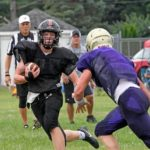 Covington football has impressive moments in scrimmage