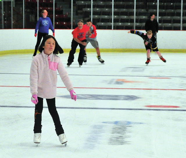 Vivian Hernandez, 9, of Sidney, participates in Saturday's Scott Hamilton Cares Foundation skate to eliminate cancer event at Hobart Arena. ©2019 Miami Valley Today. All rights reserved