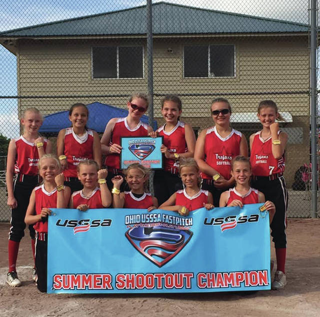 Provided photo The Trojan Thunder 10U softball team recently completed its season. The team went 22-7, was the Ohio Valley 10U League champion, won the Ohio Valley 10U tournament, won the 10U Memorial Tournament and won the 10U USSSA Summer Shootout tournament. The team is: front, from left — Landry Niles, Kyndall Seitz, Mady Turner, Emily May and Evie Frigge. Back, from left — Faith Siefring, Riley King, Sarah Zickafoose, Lexi Luginbuhl, Maddie Wright and Baylie Massingill.