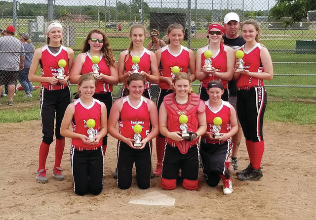 Provided photo The Trojan Thunder 14U softball team recently completed its season. The team went 19-10-1, won the 14U Memorial Tournament and was third out of 16 teams at the 14U Fireworks Spectacular Tournament. The team is: front, from left — Abbey Seger, Caroline Wesner, Emma Setser and Annie Twiss. Back, from left — Savannah Swanson, Brianna Cardinal, Hallie Frigge, Elise McCann, Ellie Fogarty and Alex Beckner.