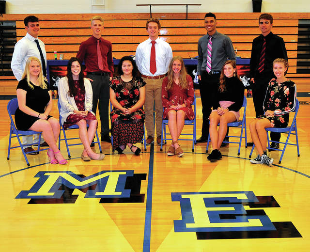 The Miami East Homecoming Court for 2019 has been chosen. Queen candidates include, left to right, Angelique LeMaster, Nichole Hood, Meredith McDowell, Sylvia Mitchell, Gabrielle Hawkins, and Paige Blauvelt. King candidates are, left to right, Hunter Gross, Tyler Fetters, Grahm Clawson, Aaron Lawrence, James Rowley, and Neil Pohl (not present for photo). The Miami East Homecoming game is on Friday with their Homecoming dance being held on Saturday.