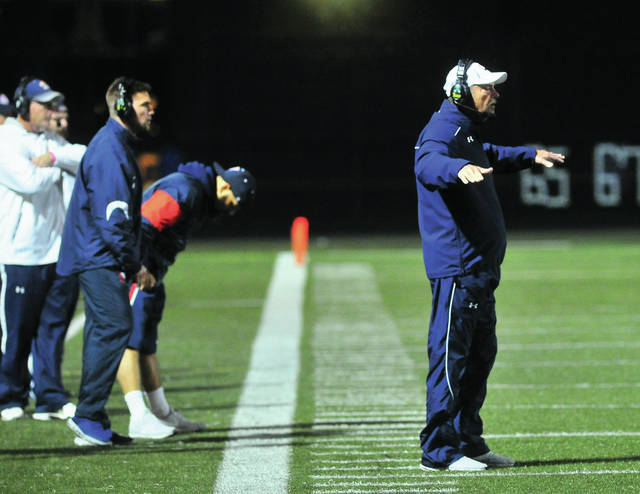 Mike Ullery|MVT File Photo Piqua football coach Bill Nees will be going for win number 200 Friday night.