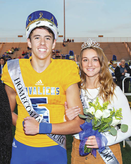 Provided photo This year's Lehman Catholic High School Homecoming queen is Hope Anthony, daughter of Joe and Lisa Anthony from Piqua and Homecoming king is Brendan O'Leary, son of Rob and Rosie O'Leary from Piqua. The two were crowned Friday night during pre-game ceremonies. After the crowning, the alumni band joined the student band for the National Anthem, followed by a prayer by school chaplain, Fr. Andrew Hess. Pre-game ended with kick-off to the football game between Lehman Catholic High School and Waynesfield-Goshen High School.