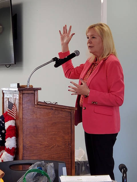 Provided photo Donna Foster from Retire Med IQ presented a program after the Tipp City Seniors Inc. Thursday, Oct. 17 luncheon. Retire Med IQ takes all your medical information and prescriptions and let you know what the best insurance is for you.