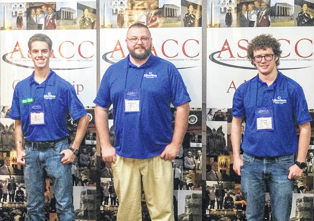 Provided photo Edison State Student Senate representatives attend the ASACC Leadership Conference in Nashville, Tenn., were left to right, Dylan Warren, Matthew Studebaker, and Devan O'Connell.