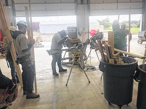 Provided photo Upper Valley Career Center students work on projects for the Miami Valley Veterans Museum's new location on County Road 25-A, Troy.