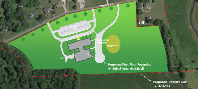 Provided photo The Troy Board of Education approved the purchase of property located at Swailes and South County Road 25-A as part of its plan to build four new elementary schools.
