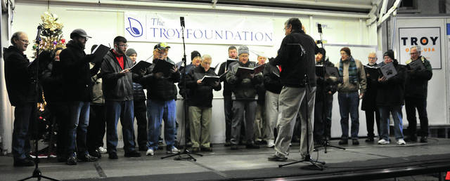 The Melody Men perform on the Troy Public Square during Friday's Grand Illumination even.