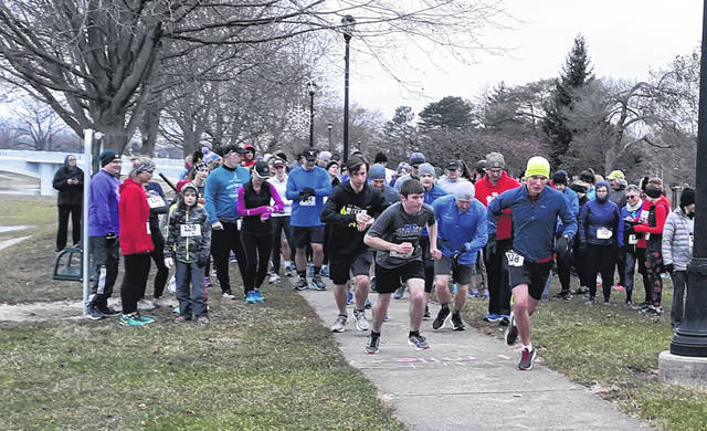 Runners take off as the 12th annual World Race for Hope begins in January of 2019.