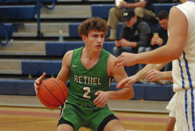 Rob Kiser|Miami Valley Today Bethel's Cannon Dakin makes a move to the basket Saturday.