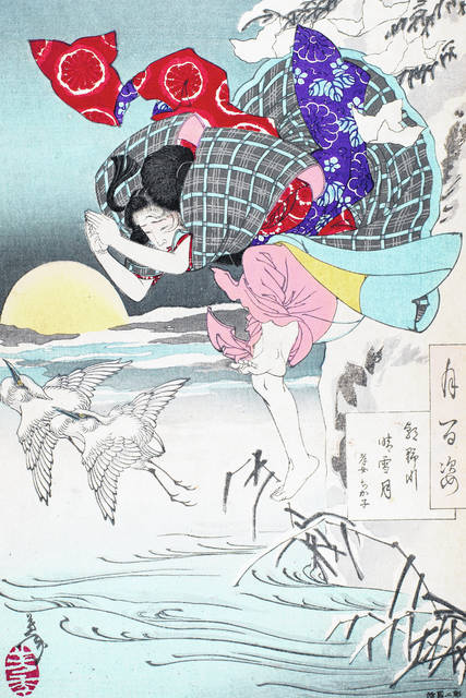 """The Dayton Art Institute will be the exclusive venue for the exhibition, """"Samurai, Ghosts and Lovers: Yoshitoshi's Complete 100 Aspects of the Moon,"""" organized by the DAI from a recent acquisition of a complete set of Tsukioka Yoshitoshi's """"100 Aspects of the Moon."""""""