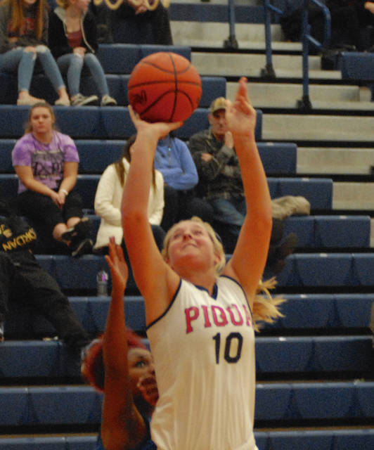 Rob Kiser|Miami Valley Today Piqua's Aubree Schrubb goes up for two points against Xenia Wednesday.