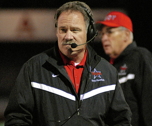 Miami Valley Today file Former Troy and Troy Christian football coach Steve Nolan was recently announced as the new Troy Christian head football coach entering the 2020 season.