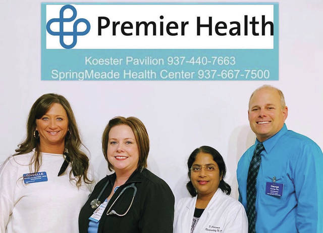 Left to right: Danielle Feltner, LNHA Koester Pavilion; Amy De Vos, RRT,RCP, UVMC; Prasuna Madireddy, M.D. and Medical Director for Koester Pavilion/Springmeade Health Center, George Miu, LNHA Springmeade Health Center.