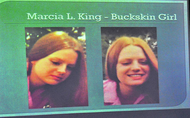 "Mike Ullery | Miami Valley Sunday News file photo The Miami County Sheriff's Office announced in April 2018 that Jane Doe, aka ""Buckskin Girl"" has been positiviely identifed as Marcia L. King of Little Rock, Ark., with the help of new technology."