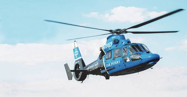 Dayton's first medical helicopter transport is partnering with Versailles' Midmark Corp.