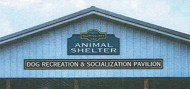 The Board of Miami County Commissioners approved signage for the Miami County Animal Shelter's new Dog Recreation and Socialization Pavilion.