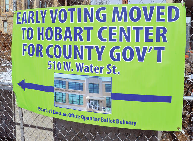 A reminder that the Miami County Board of Elections has moved the location for early voting to the Hobart Center for County Government located at 501 West Waiter Street in Troy.