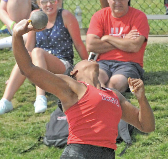 Josh Brown | Miami Valley Today file Troy's Lenea Browder, seen here competing during last year's outdoor state meet, placed at this year's OATCCC state indoor meet in Geneva on March 7.