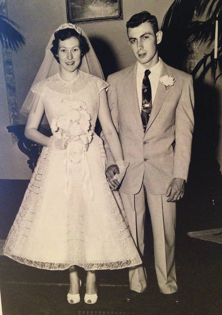 Carol Lennett (Oswalt) and Lester Francis were married April 23, 1955 at Cove Springs Church.