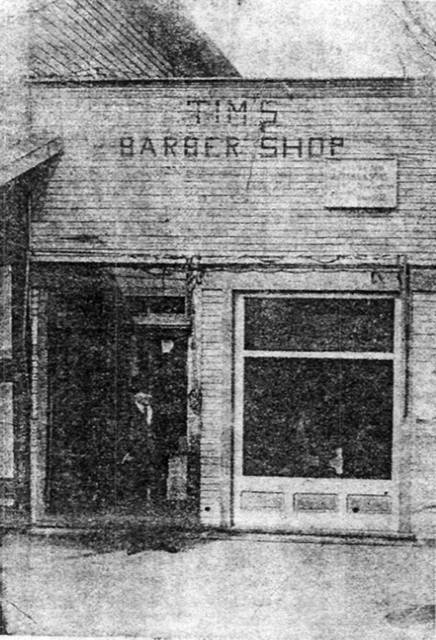 """In 1902, James Henry """"Tim"""" Timmins migrated from Iowa to Postdam. He rented space from the wealthy Ammon family and opened his barber shop."""