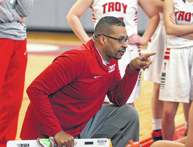 Lee Woolery | Miami Valley Today file Aaron Johnson recently announced he was stepping down as Troy girls basketball coach, with assistant coach Jeremy Hughes taking over the head coaching job.