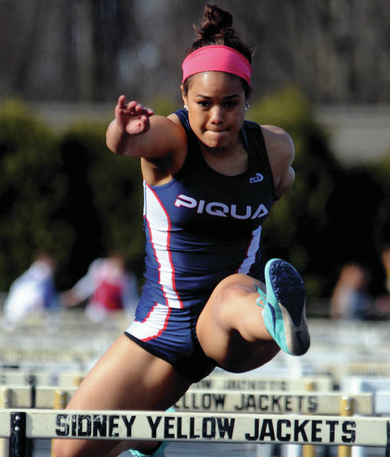 MVT File Photo Piqua High School senior Lauren Mitchell was the PHS female athlete of the month for April.