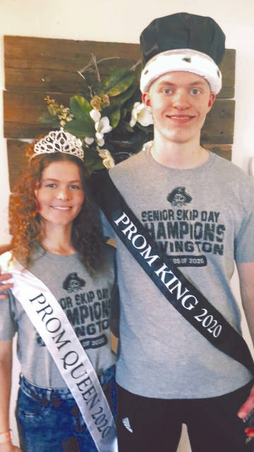 Provided photo Senior students Seth and Sophia Iddings, son and daughter of Steve and Mary Iddings, of Covington, were nominated for prom court, and both won the titles.