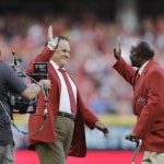 Rose, 3 other Reds honored on field before All-Star Game