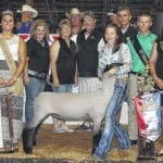 Wood's homegrown lamb sells for $1,025