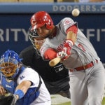 Reds beat former teammate Mat Latos and Dodgers 10-3
